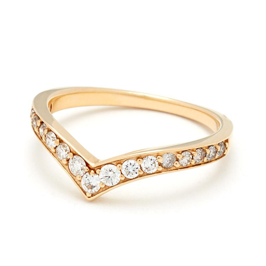 Anna Sheffield Orbit Diamond Ombre Band in 18K Gold angle 2