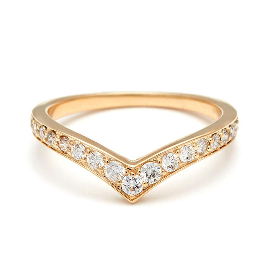 Anna Sheffield Orbit Diamond Ombre Band in 18K Gold