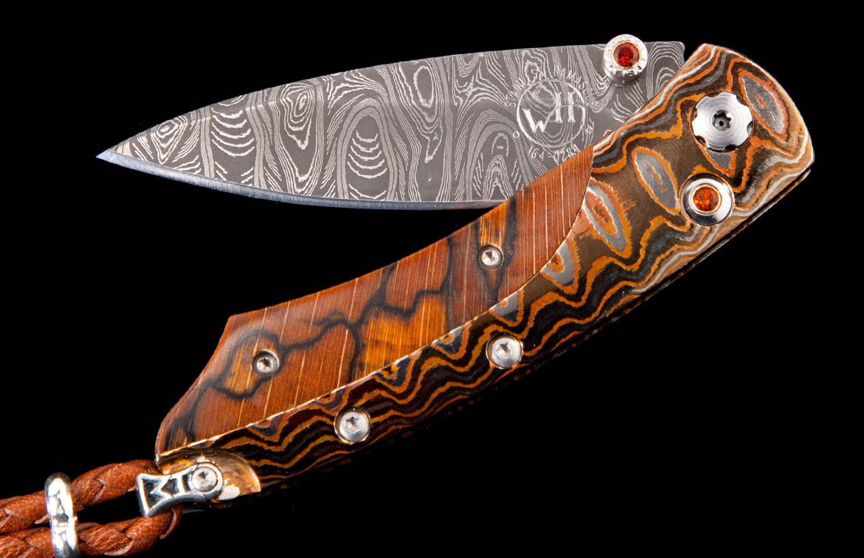 William Henry Steel & Pikatti Woodland Pocket Knife front image