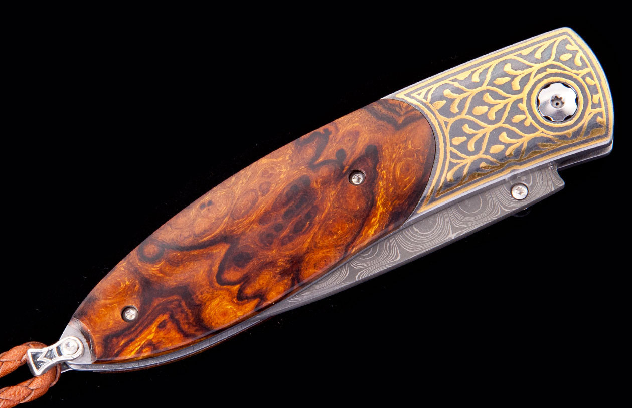 William Henry Monarch 24K Gold and Iron Pocket Knife closed image