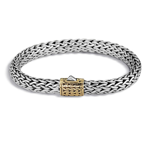 John Hardy Classic Chain Gold & Silver 7.5mm Small Bracelet
