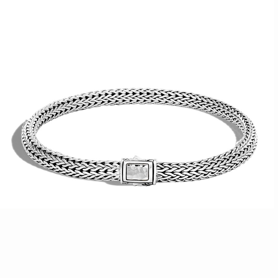 John Hardy Hammered Silver 5mm Classic Chain Bracelet