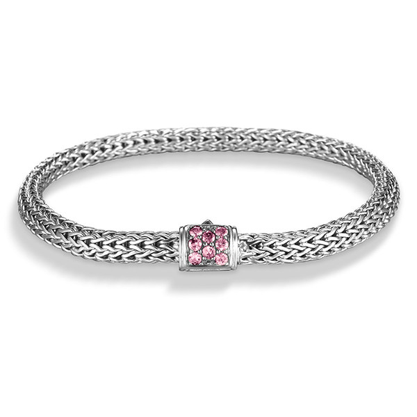 John Hardy Classic Chain 5mm Pink Spinel Bracelet