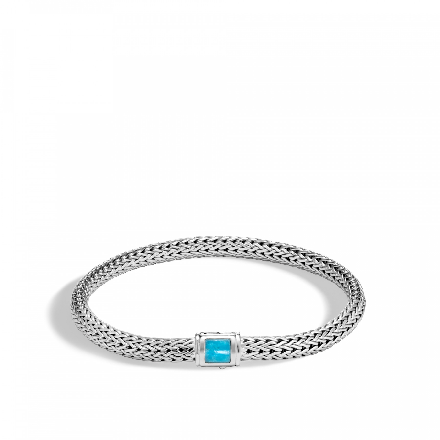 John Hardy Extra Small Classic Chain 5mm Turquoise Bracelet