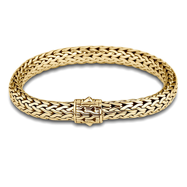 John Hardy Classic Chain 7.45mm Yellow Gold Medium Bracelet