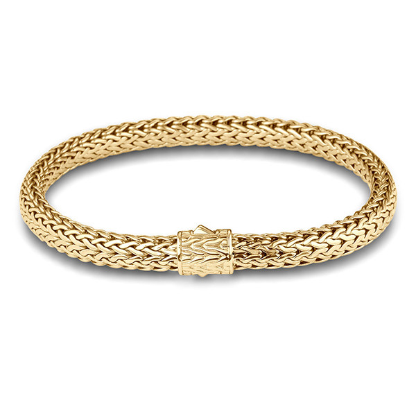 John Hardy Classic Chain 6.25mm Yellow Gold Bracelet
