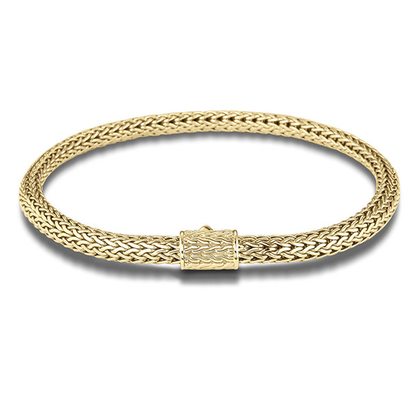 John Hardy Classic Chain 5mm Extra Large Yellow Gold Bracelet
