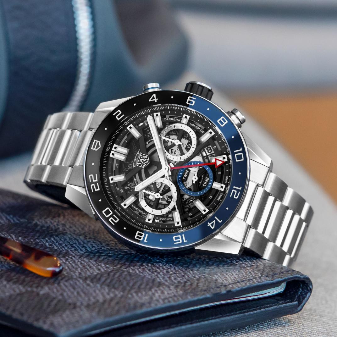 Tag Heuer Carrera Calibre Black and Blue Watch - 45mm instagram view