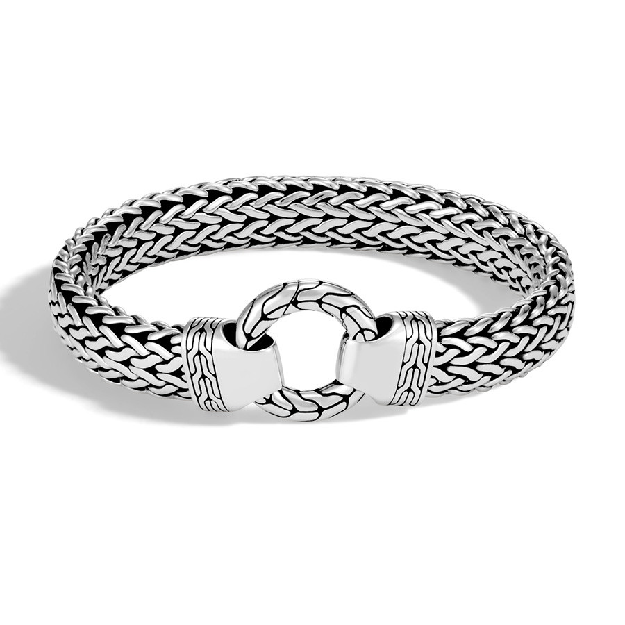 John Hardy Classic Chain Large Ring Clasp Silver Bracelet
