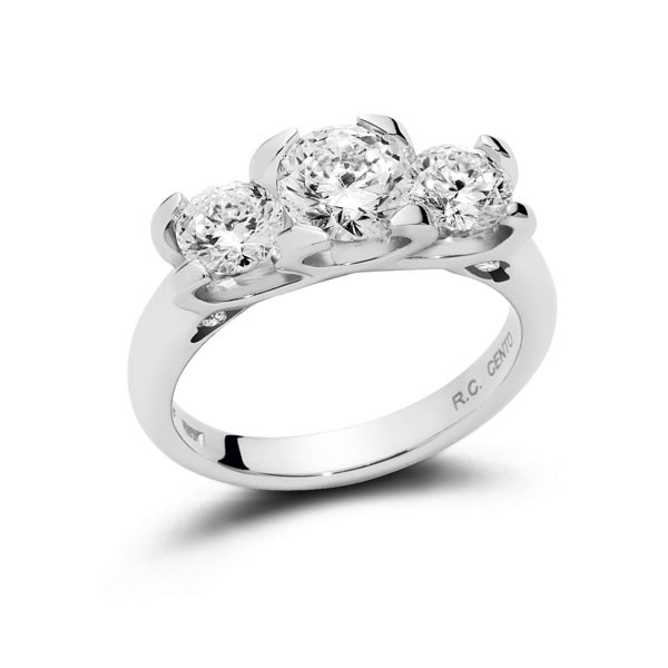 Roberto Coin Cento C Profile Diamond Ring