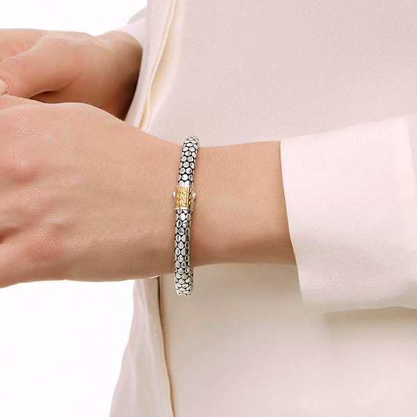 John Hardy Dot Gold & Silver Bracelet on Model