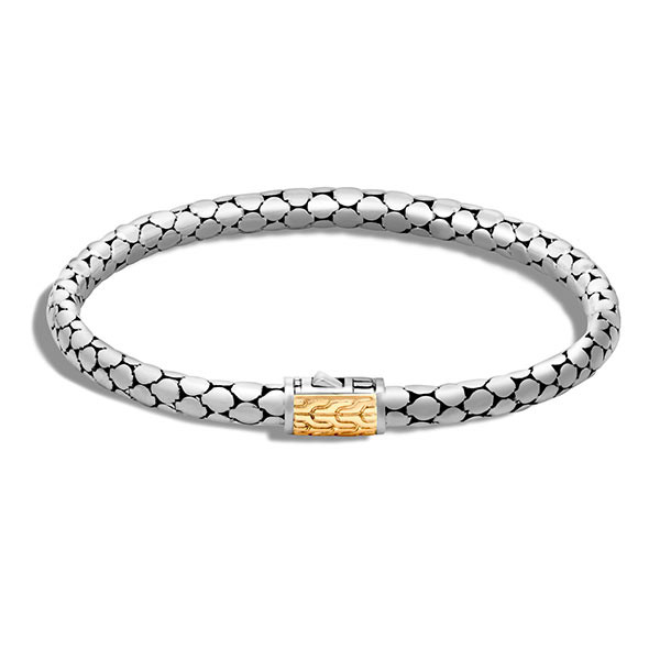 John Hardy Dot Gold & Silver Slim Bracelet on Model