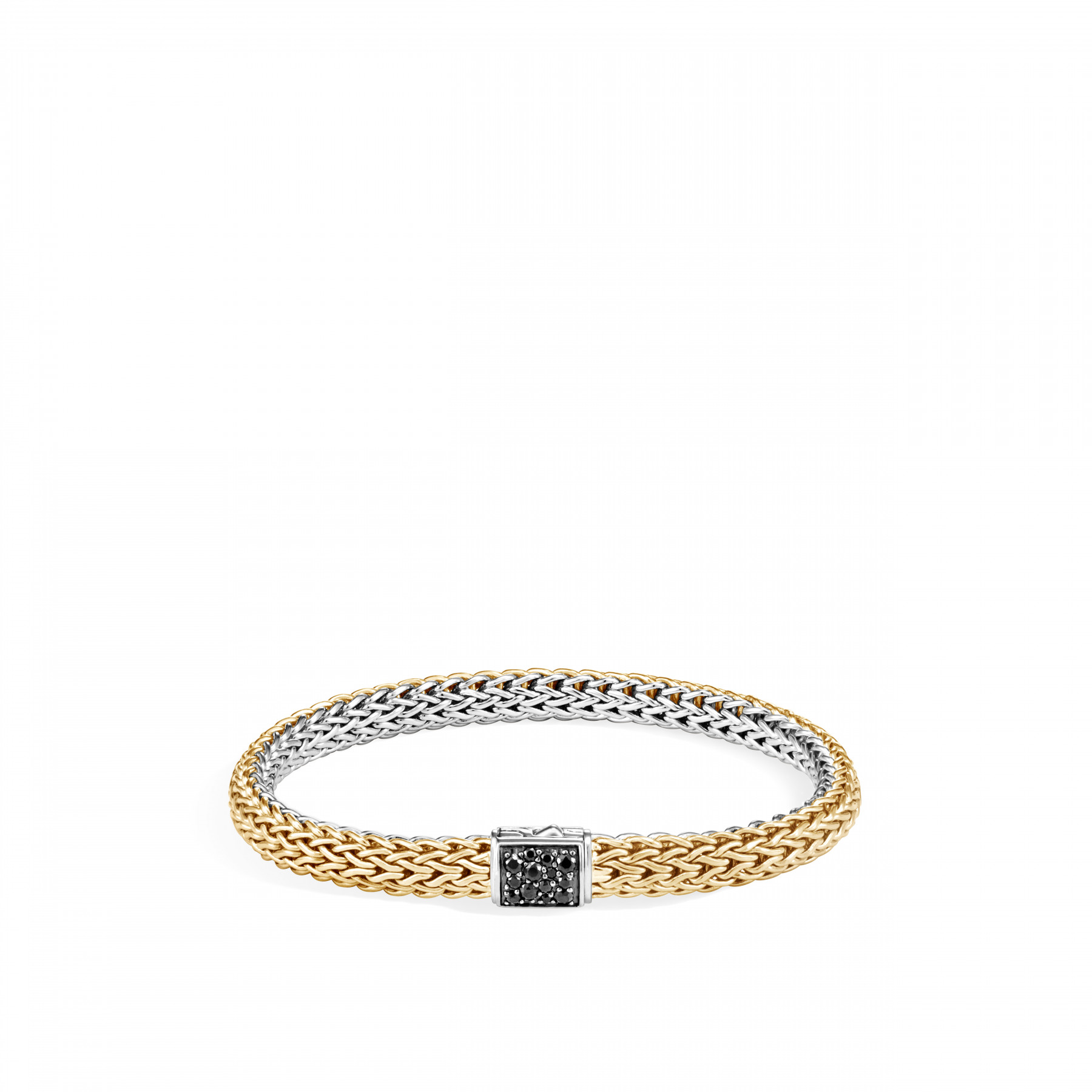 John Hardy Classic Chain Two Tone Gemstone Bracelet with Diamonds and Sapphires (5mm)