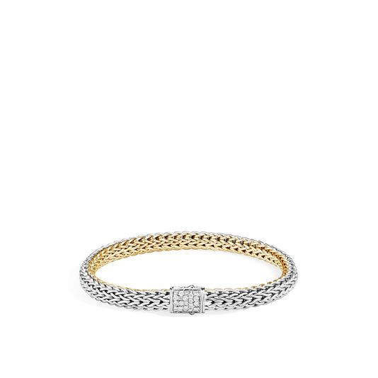John Hardy Classic Chain Two Tone Gemstone Bracelet with Diamonds and Sapphires (6.5mm) front image