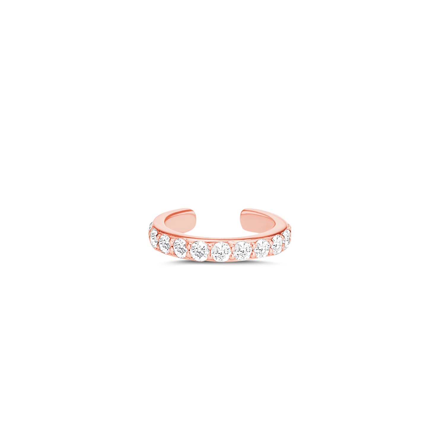 Carbon & Hyde Classic Cuff Diamond Earring in 14K Rose Gold front