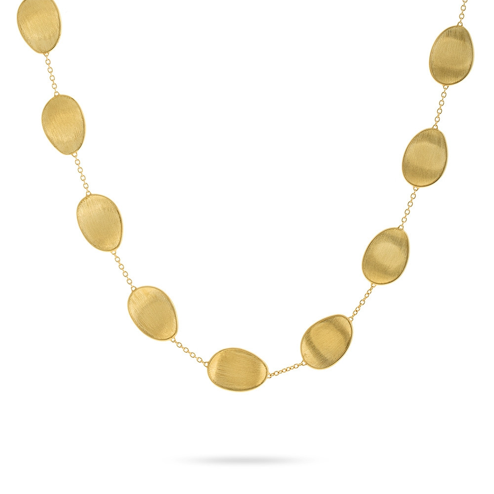 Marco Bicego Yellow Gold Lunaria Station Necklace