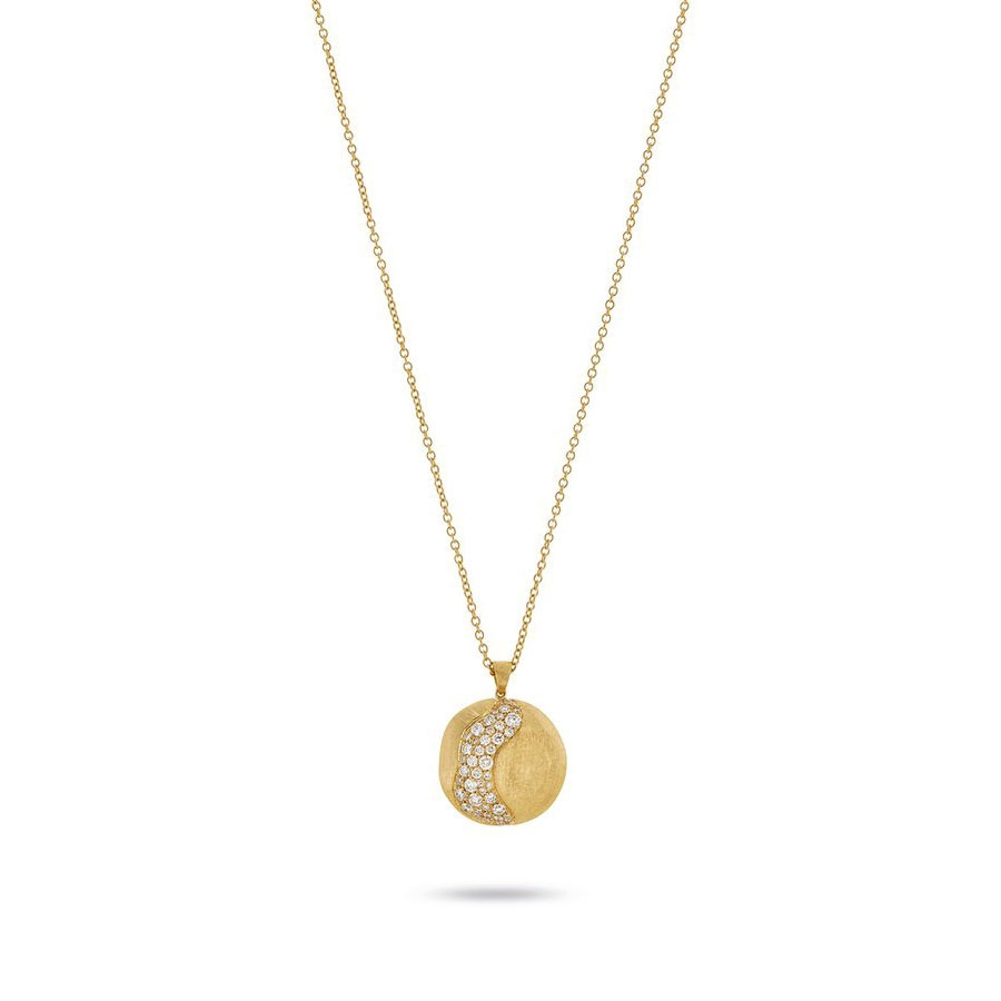 Marco Bicego Africa Constellation Large Yellow Gold Diamond Pendant Necklace