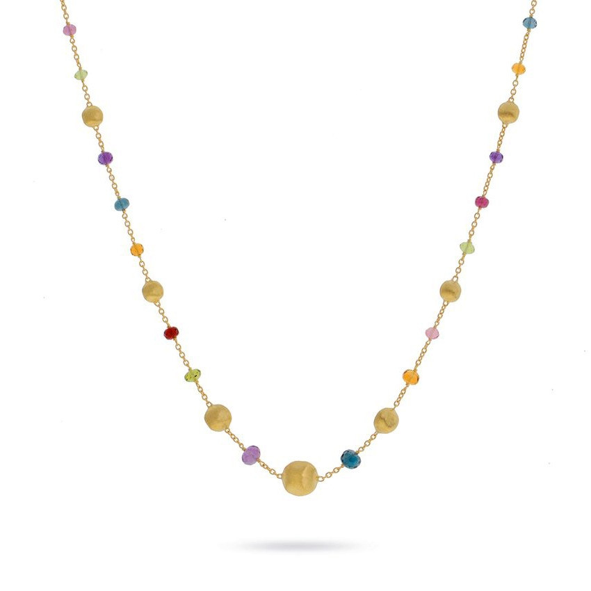 e3542e82574229 Marco Bicego Africa Color Gold & Gemstone Station Necklace | J.R. ...