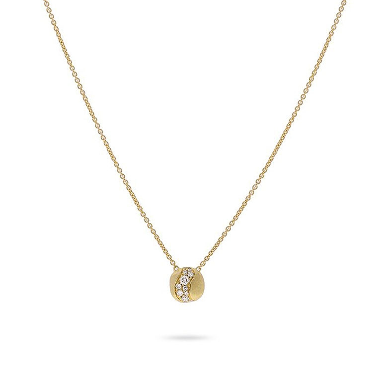 Marco Bicego Africa Constellation Yellow Gold Diamond Small Pendant Necklace