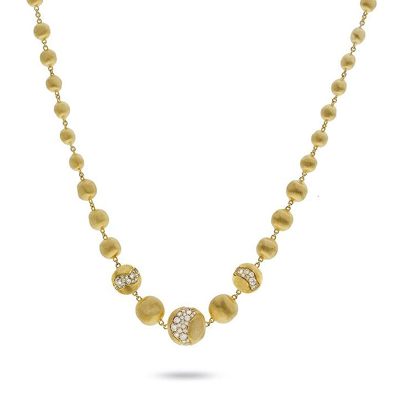 Marco Bicego Africa Constellation Diamond Yellow Gold Collar Necklace
