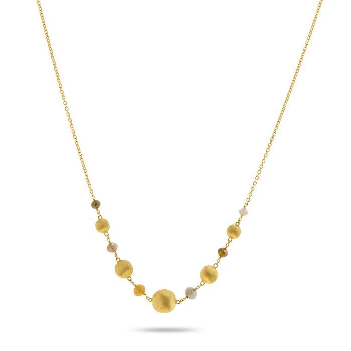 Marco Bicego Africa Stellar Mixed Diamond Yellow Gold Necklace