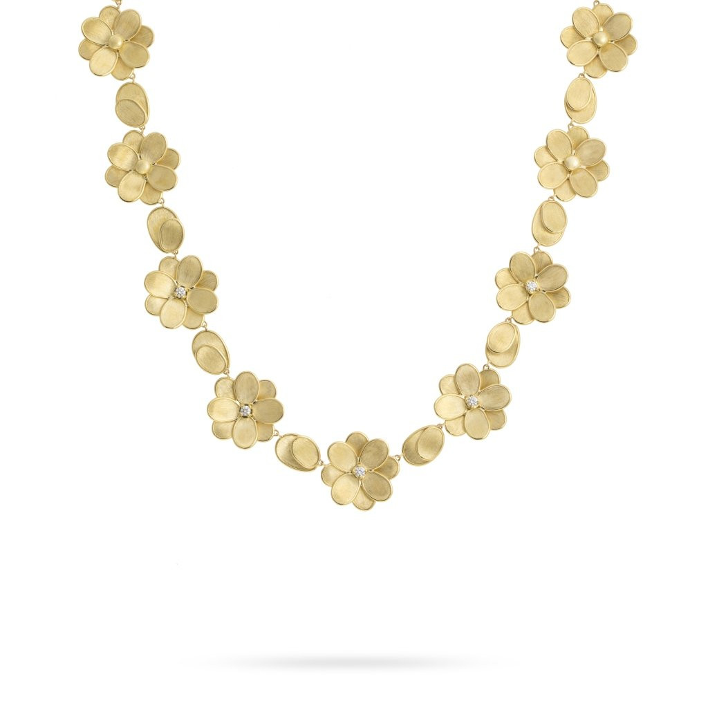 Marco Bicego Petali Diamond Flower Collar Necklace