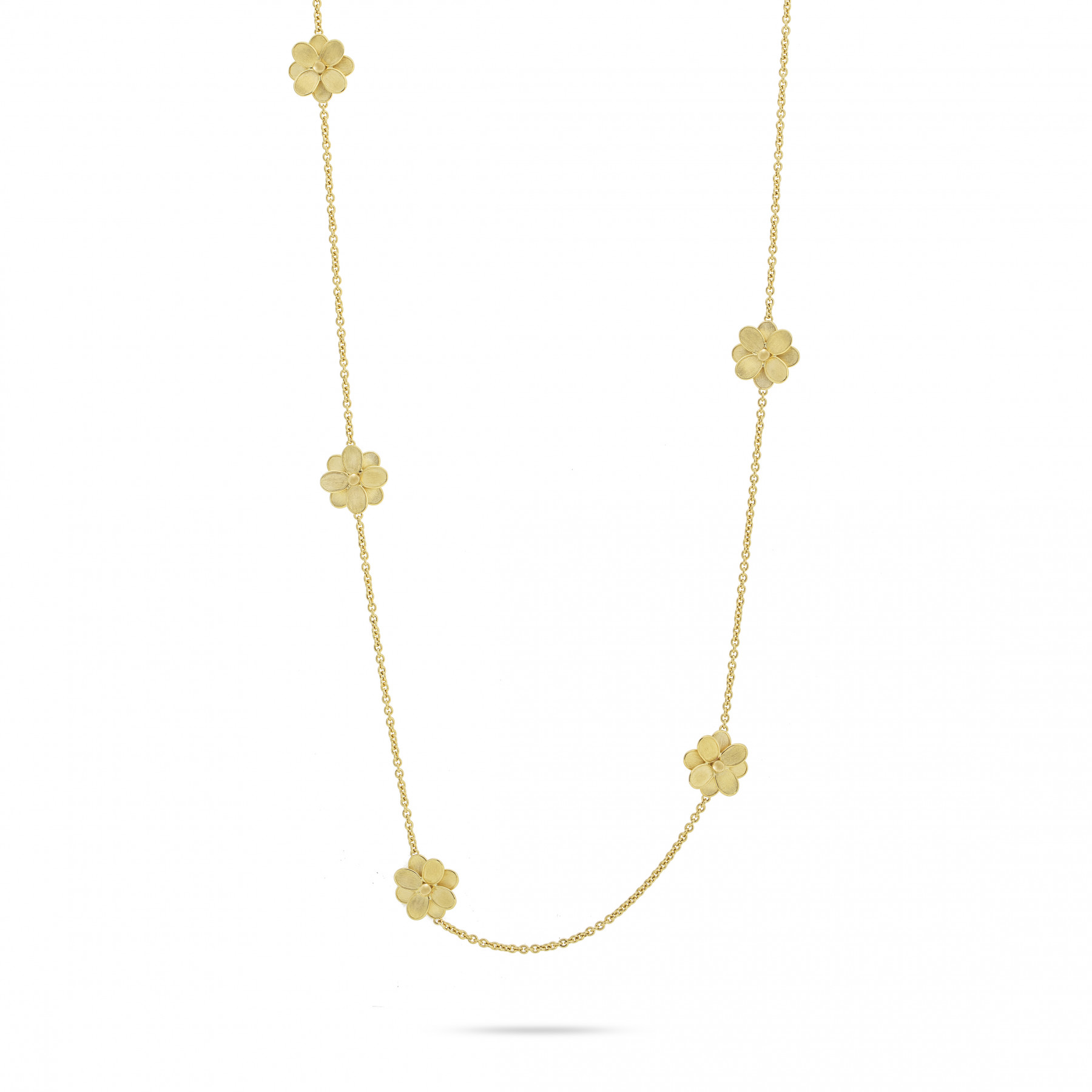 Marco Bicego Petali Yellow Gold Station Necklace