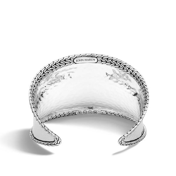 John Hardy Classic Chain Large Silver Cuff Back View