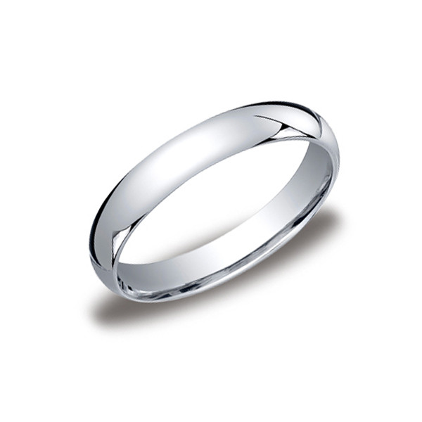 Crown Ring 4mm Platinum Light Dome Mens Wedding Band