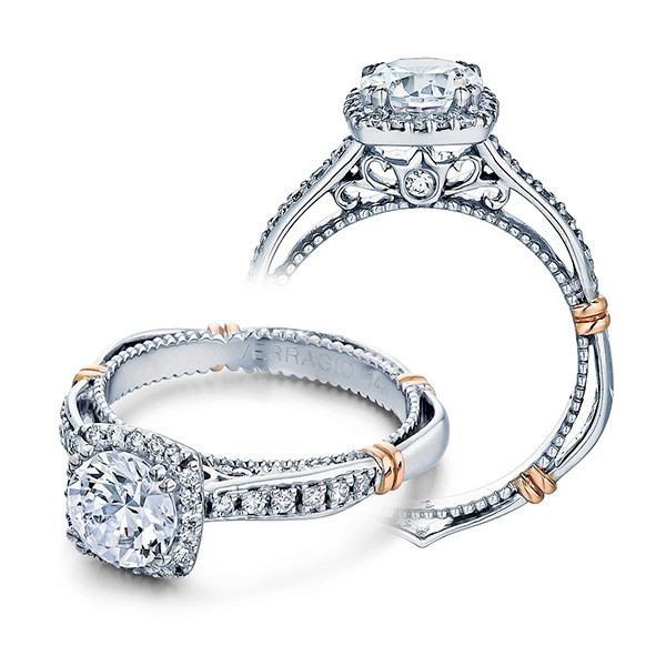 Verragio Parsian Pave Cushion Halo Engagement Setting
