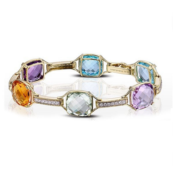 Dabakarov Multi-Color Gemstone Station Bracelet