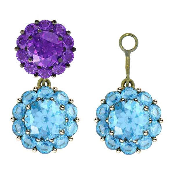 Color My Life Alexandrite Earring Jacket Example