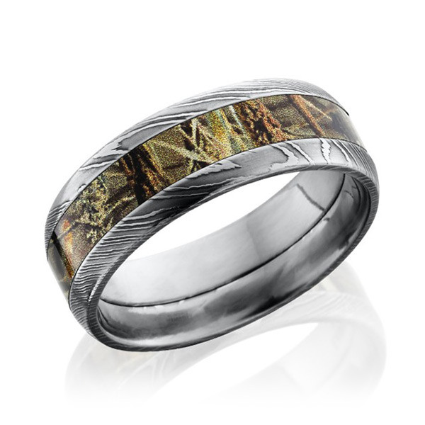 Lashbrook 8mm Domed Realtree Max4 Camo Band
