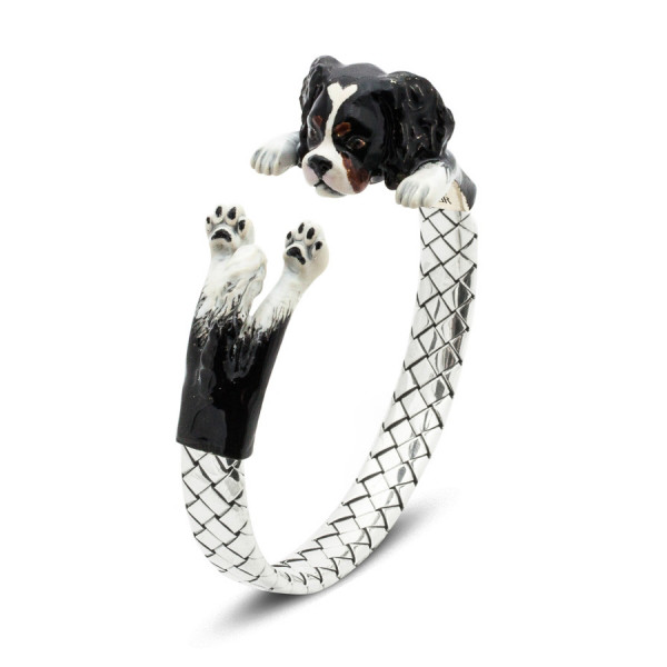 Dog Fever Cavalier King Charles Spaniel Painted Hug Bracelet
