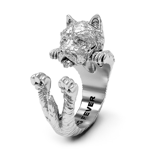 Dog Fever Silver West Highland White Terrier Ring