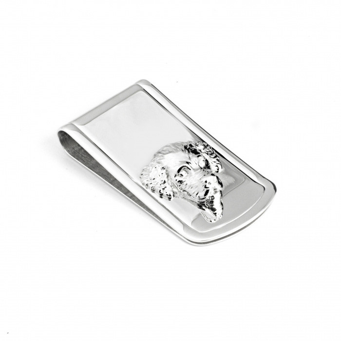 Dog Fever Golden Retriever Sterling Silver Money Clip