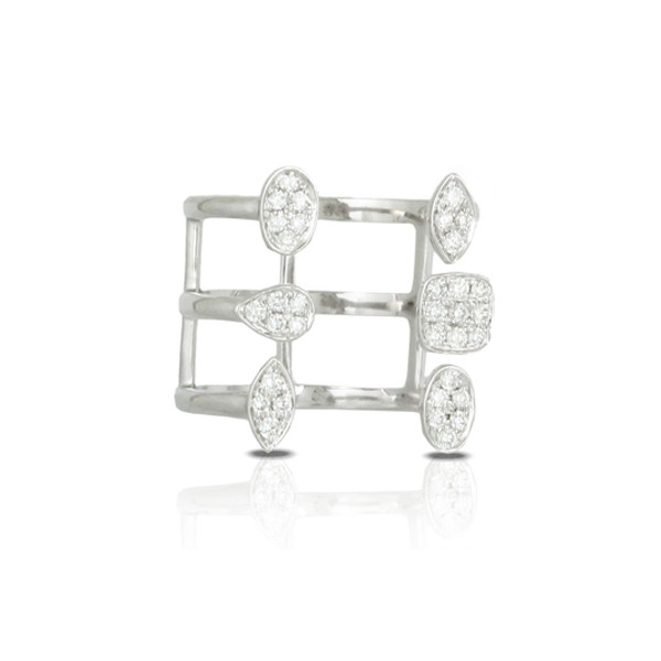 White Gold with Diamonds Gladiator Ring