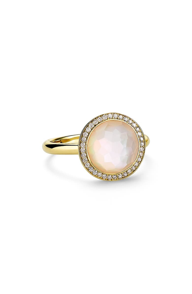 IPPOLITA 18K Gold Lollipop Small Pearl Ring with Diamonds