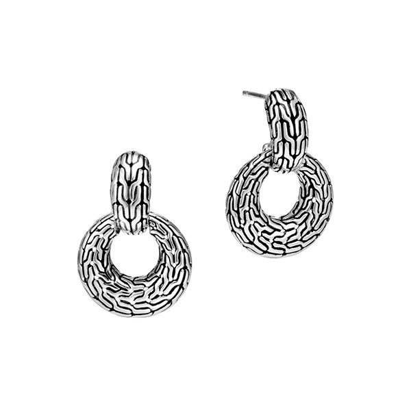 John Hardy Classic Chain Circle Drop Earrings