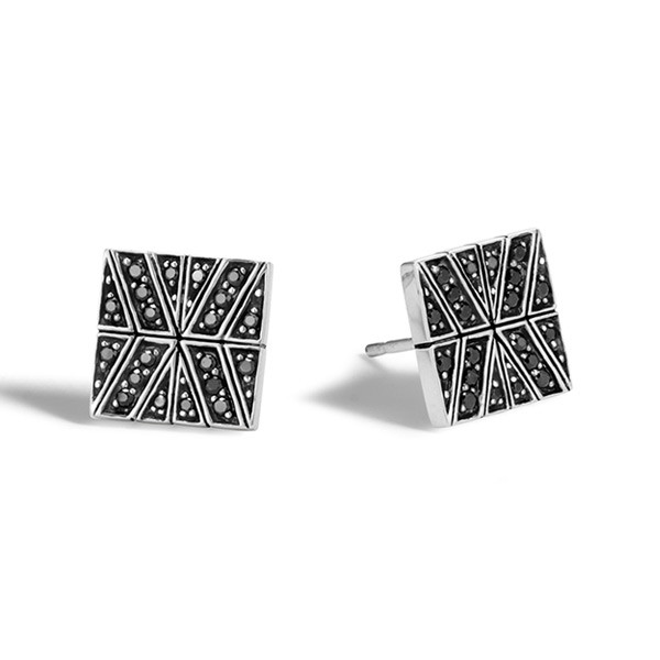 John Hardy Black Sapphire Modern Chain Stud Earrings
