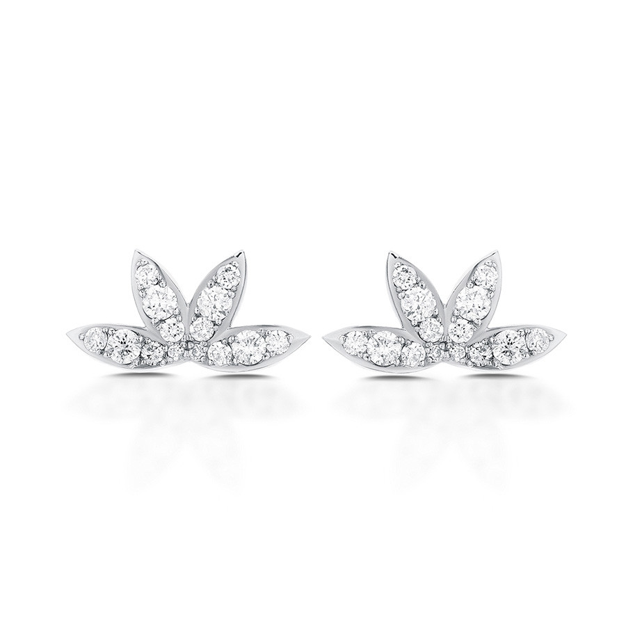 Carbon & Hyde Calypso White Gold Diamond Stud Earrings