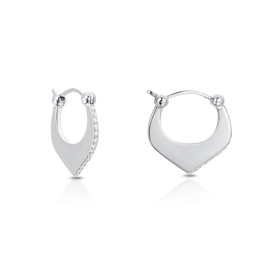 Carbon & Hyde Mini Nirvana White Gold Diamond Earrings