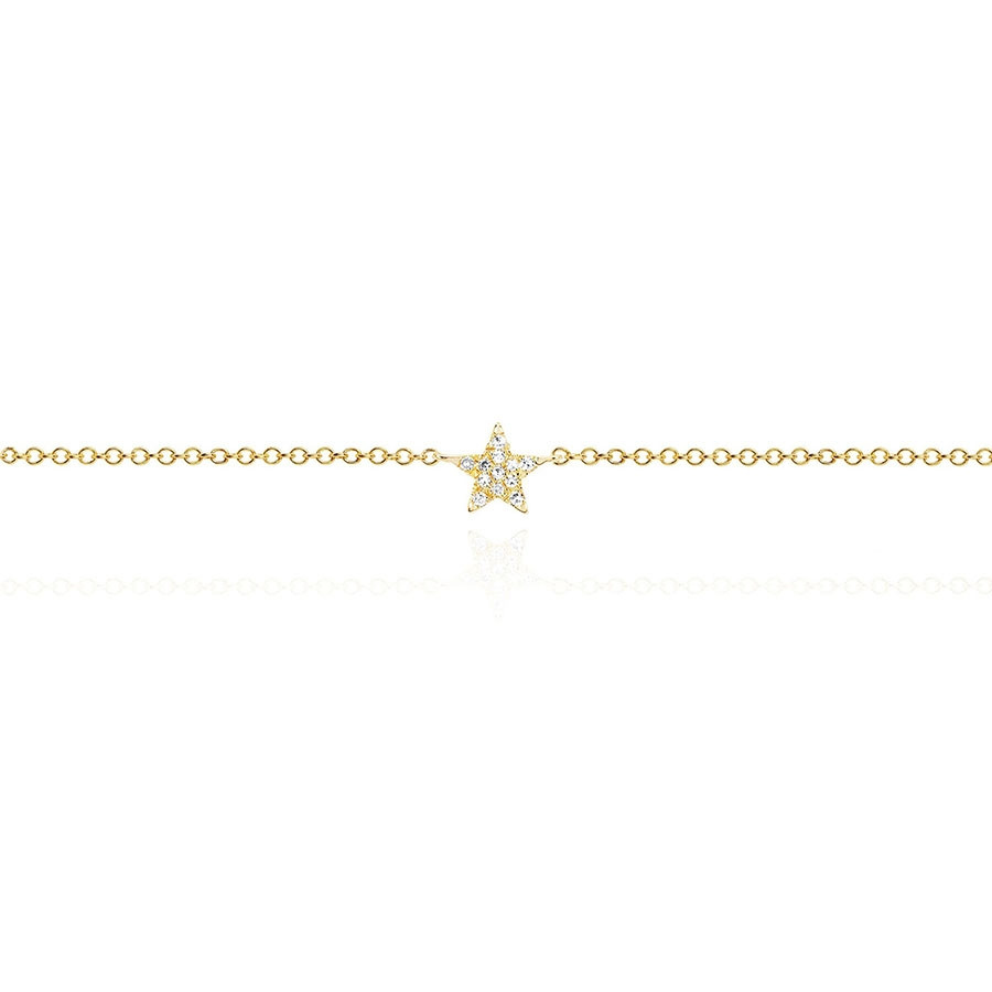 Diamond Star Anklet by EF Collection