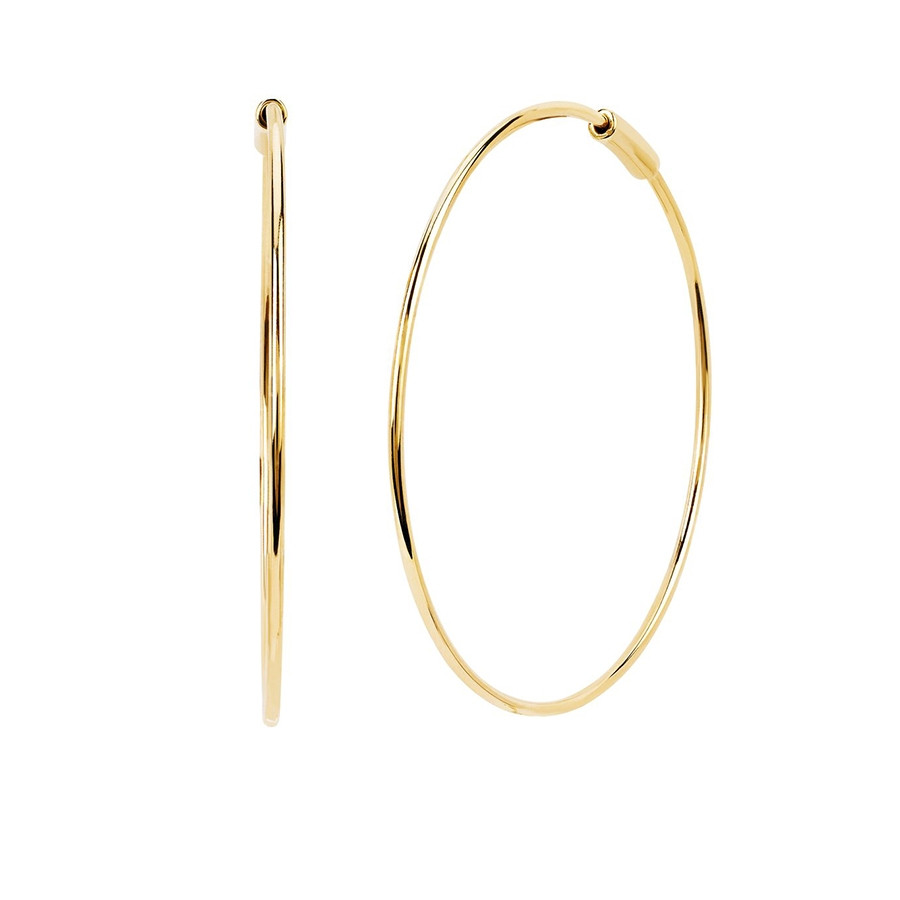 The Perfect Gold Hoop Earrings by EF Collection