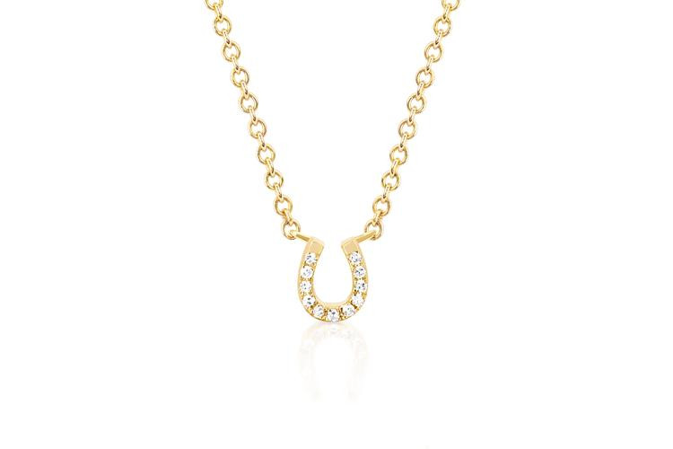 EF Collection Horseshoe Choker in 14K Gold