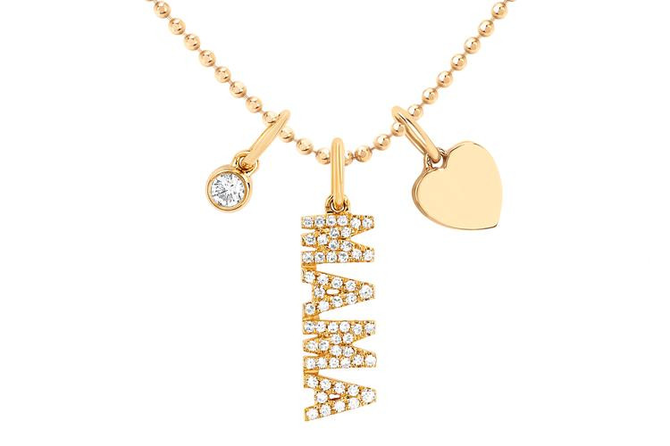 EF Collection Mama Charm Necklace in 14K Gold