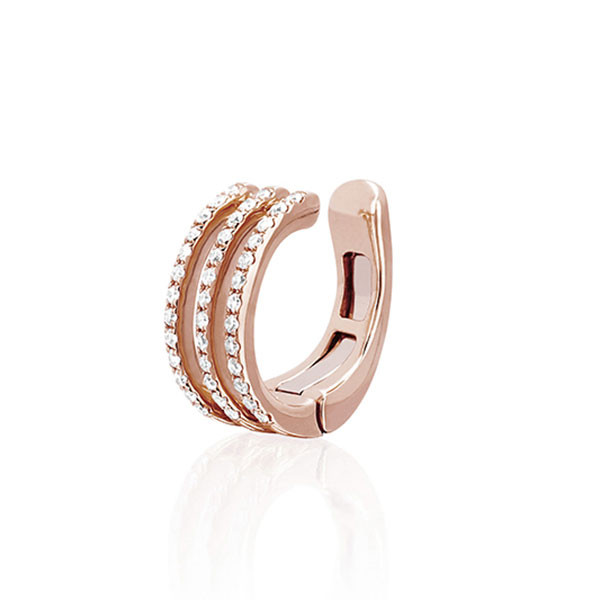 EF Collection Rose Gold Diamond Ear Cuff