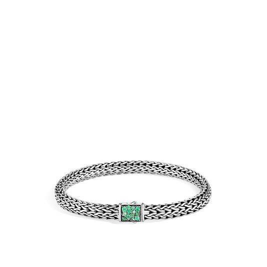 John Hardy Classic Chain Diamond and Emerald Reversible Bracelet - 6.5MM image