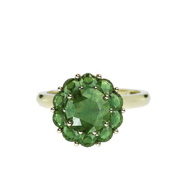 Color My Life Emerald Ring in Yellow Gold