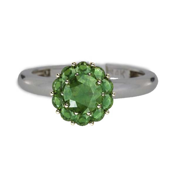 Color My Life Emerald Ring in White Gold